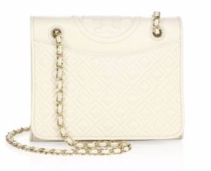 $192.85(Org. $475) Tory Burch Fleming Medium Quilted Leather Shoulder Bag Sale @ Saks Fifth Avenue