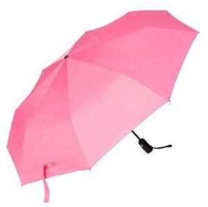Oak Leaf Auto Open/Close Compact Travel Umbrella Pink