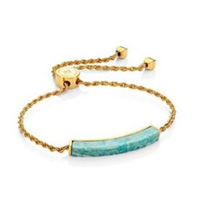 Monica Vinader GP Linear Amazonite Slider Bracelet