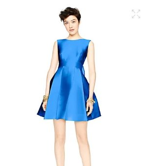 $156-$183.75(reg.$428.00) kate spade open back silk mini dress