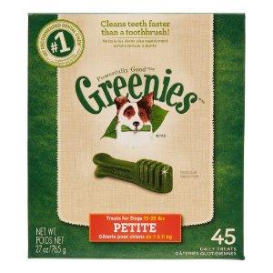 Greenies Dental Chews Small Breed Dog Treat, 35 Ct | Jet.com