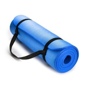 Lightning deal! $15.99HemingWeigh Extra Thick High Density Exercise Yoga Mat with Carrying Strap