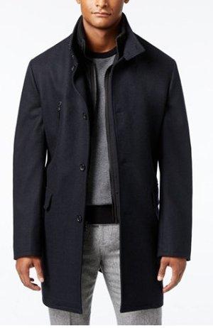 低至2.5折+额外8折!macys.com 精选Calvin Klein, Tommy Hilfiger等男款大衣热卖