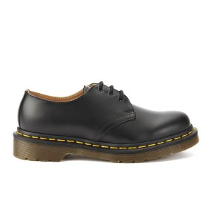 Dr. Martens Originals 1461 3-Eye Smooth Leather Gibson Shoes - Black - FREE UK Delivery