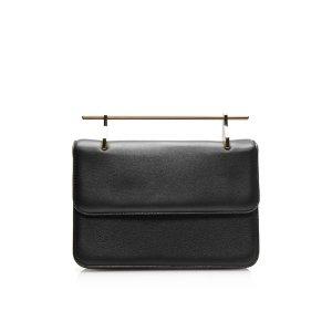 M2Malletier La Fleur du Mal Calf Leather Bag in Black
