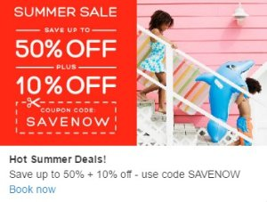 Up to 50% Off+Extra 10% Off Summer Sale @ Hotels.com