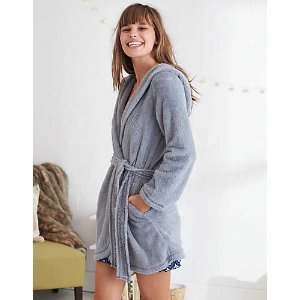Aerie Fuzzy Robe , Gray | Aerie for American Eagle