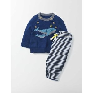 Whale Knitted Play Set 76092 Knitwear at Boden