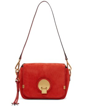 $963(reg.$1750) Chloé  Red Suede Small Indy Bag