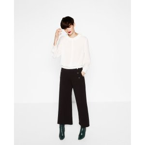 BLOUSE WITH PETER PAN COLLAR - View all-TOPS-WOMAN | ZARA United States