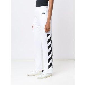 Off-white Stripe Print Sweat Pants
