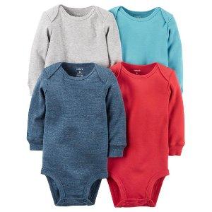 Baby Boy 4-Pack Long-Sleeve Bodysuits | Carters.com