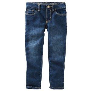 Toddler Girl Knit-Like Jeans - Boston Wash | OshKosh.com