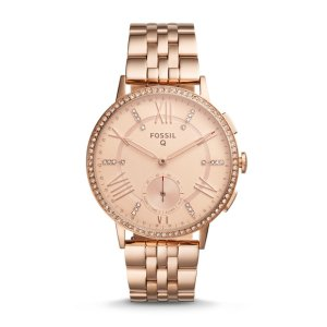 Q Gazer Hybrid Rose Gold-Tone Stainless Steel Smartwatch - Fossil