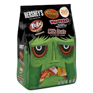 $13.85 HERSHEY'S Halloween Snack Size Assortment (70.97-Ounce Bag, 200 Pieces)