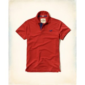 Guys Stretch Pique Polo | Guys Clearance | HollisterCo.com