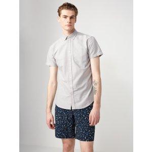 The Jasper Oxford Marl-Cotton Shirt in Light Grey | Frank + Oak