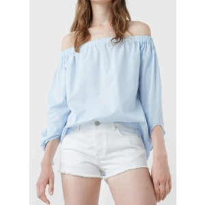 White denim shorts - Woman | MANGO USA