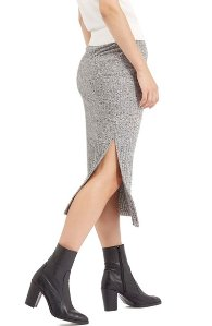 Ribbed Marl Tube Skirt (Regular & Petite)