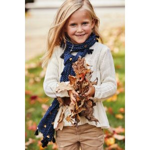 Girls Cable Crewneck Sweater from Lands' End