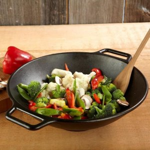 Mr. Bar-B-Q 06106X Cast-Iron Wok