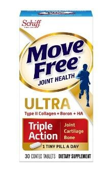 $9.34 Move Free Ultra Triple Action Joint Supplement with Type II Collagen, Hyaluronic Acid and Boron for Joint Cartilage and Bone Support 30 tablets