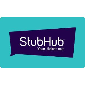 演唱会球赛全打折!仅售 $100 !价值$115 StubHub 电子礼卡