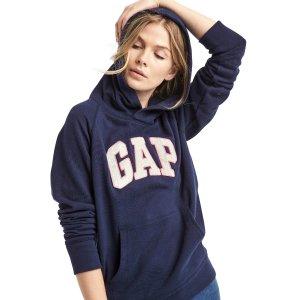 Textured logo pullover hoodie | Gap