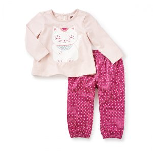 Maneki Neko Baby Outfit | Tea Collection