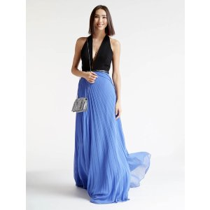 Crepe / Georgette Colorblocked Gown