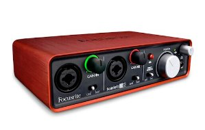 $99.99 Focusrite Scarlett 2i2 2nd Gen 2 Input/2 Output USB 2.0 Audio Interface with 2x Scarlett Mic/Instrument Preamplifi