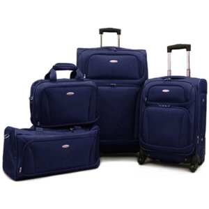 $135 +Free Scale & Neck pillow Samsonite 4 Piece Spinner Luggage set, 3 Colors