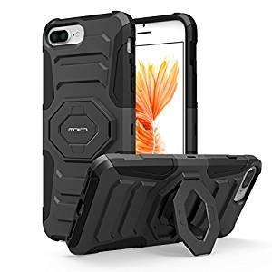 iPhone 7 Plus Case - MoKo Premium [Scratch-resistant] Full Body Rugged Cover with Kickstand