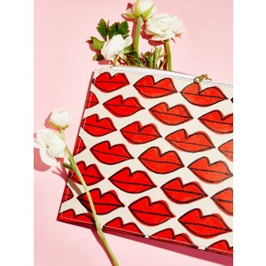 Panama Lips Graffiti Painted Clutch at Free People Clothing Boutique