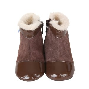 Pearl Mini Shoez Baby Boots, Brown | Robeez