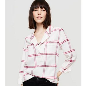 Lou & Grey Plaid Flannel Palette Shirt