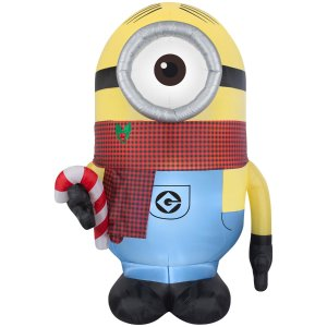Shop Gemmy 8.95-ft x 4.65-ft Lighted Minion Christmas Inflatable at Lowes.com