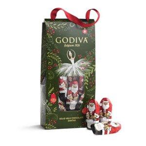 Mini Santa Pouch, Individually Foil Wrapped   GODIVA