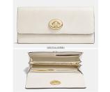 COACH Designer Wallets   Turnlock Slim Envelope Wallet In Smooth Leather
