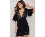 For Love and Lemons Carmine Mini Dress Black