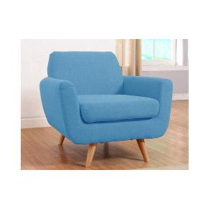 Mid Century Blue Modern Accent Chair - Sofamania