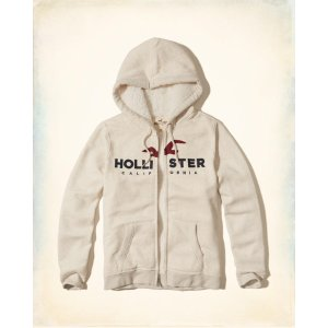 Guys Sherpa Lined Logo Graphic Hoodie | Guys Clearance | HollisterCo.com