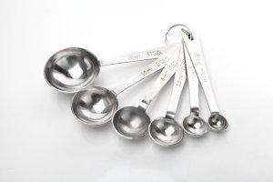 Utopia Kitchen Professional Grade Stainless Steel 6-Piece Measuring Spoon Set