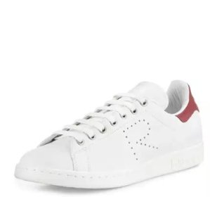Adidas by Raf Simons Stan Smith Perforated Leather Sneaker, White @ Neiman Marcus