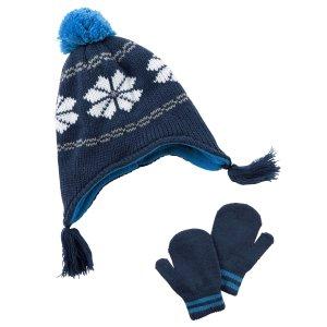 Toddler Boy Hat & Mitten Set | Carters.com