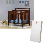 $137.98-$257.98 Dream on Me Mini or Portable Crib (Choose Your Style and Finish) with BONUS Mattress