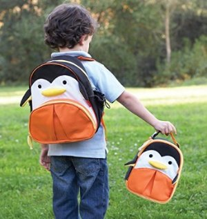 $11.99 Skip Hop Baby Zoo Little Kid and Toddler Insulated and Water-Resistant Lunch Bag, Multi Picasso Penguin