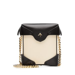 Micro Pristine Leather Shoulder Bag from MANU ATELIER | Luxury fashion online | STYLEBOP.com