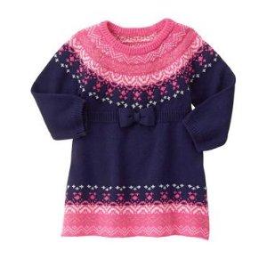 Toddler Girls Winter Blue Fair Isle Sweater Dress by Gymboree