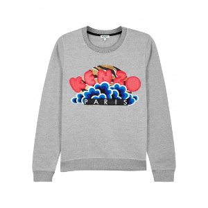 Kenzo Popcorn appliquéd cotton sweatshirt